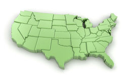 översikt USA Arkivbilder
