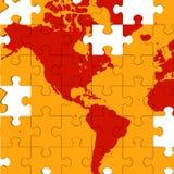 Översikten av Amerika visar global värme royaltyfri illustrationer