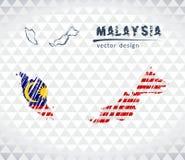 Översikten av Malaysia med den drog handen skissar pennöversikten inom också vektor för coreldrawillustration vektor illustrationer