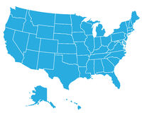 översikten för konturöversikten anger USA Royaltyfri Foto