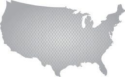 översikten för konturöversikten anger USA Arkivfoto