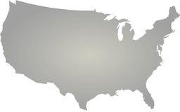 översikten för konturöversikten anger USA Fotografering för Bildbyråer