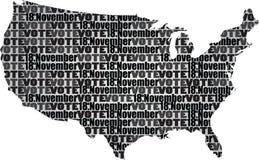 översikten för konturöversikten anger USA Arkivbilder