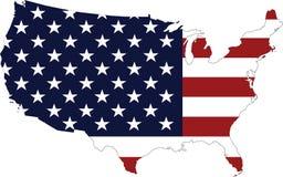 översikten för konturöversikten anger USA Royaltyfria Foton