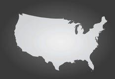 översikten för konturöversikten anger USA Arkivfoton