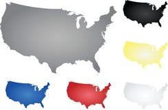 översikten för konturöversikten anger USA Royaltyfri Bild
