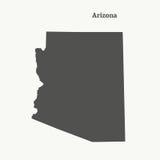 Översiktsöversikt av Arizona illustration Fotografering för Bildbyråer