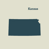Översiktsöversikt av Kansas illustration Arkivfoto