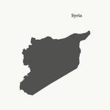 Översiktsöversikt av Syrien illustration Royaltyfri Bild