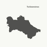 Översiktsöversikt av Turkmenistan illustration Royaltyfria Foton