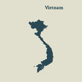 Översiktsöversikt av Vietnam illustration Royaltyfria Foton