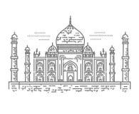 Översiktsillustration av Taj Mahal Palace Icon Royaltyfria Bilder