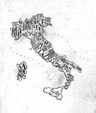 ÖversiktsItalien tappning royaltyfri illustrationer