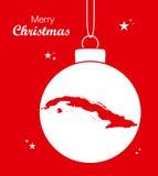 ÖversiktsKuba för glad jul vektor illustrationer