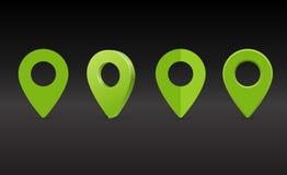 Översiktsmarkör, översiktsstiftvektor Kartlägga markörer Arkivfoton