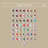 Översiktsmarkör med flaggor askfat Vektorillustration 10eps stock illustrationer