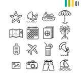 Översiktssommarsymboler Arkivbild