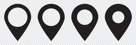 Översiktsstift Symbol för lägeöversikt vektor illustrationer