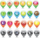 Översiktssymbol, gps för översiktstillverkare royaltyfri illustrationer
