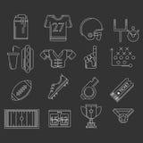 Översiktssymboler för amerikansk fotboll Royaltyfria Foton