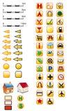 Översiktssymboler i guling Arkivfoto