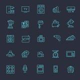 Översiktssymbolssamling - hushållanordningar Arkivfoton