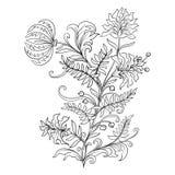 Översiktstappning blommar buketten eller modellen stock illustrationer
