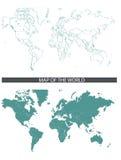 översiktsvärld stock illustrationer