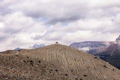 Överst av berget Arkivfoton