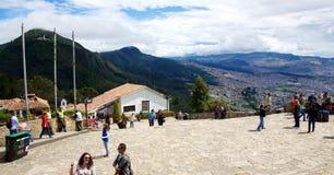 Överst av Cerro de Monserrate Royaltyfri Foto
