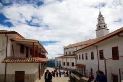 Överst av Cerro de Monserrate Royaltyfri Bild
