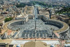 Överst av Vaticanen i Rome Arkivfoto