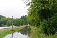 Översvämma i Frankrike Royaltyfria Foton