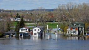 Översvämma i Gatineau, Quebec, Kanada Royaltyfri Foto