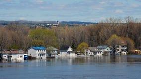 Översvämma i Gatineau, Quebec, Kanada Royaltyfria Bilder