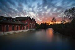 Översvämma i Monza Arkivbilder