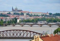 Översvämma i Prague Royaltyfria Bilder