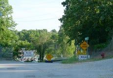 Översvämma i sydvästliga Missouri royaltyfria bilder