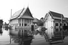 Översvämma i tempelet. Arkivbild