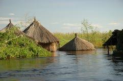 Översvämmad by Royaltyfri Fotografi