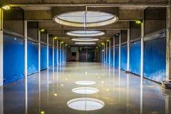 Översvämmad fot- gångtunnel Arkivfoton