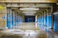 Översvämmad fot- gångtunnel Arkivbild