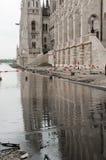 Översvämmad gata, Budapest Arkivbilder