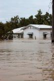 översvämmad husförsäkringvertical Arkivbilder