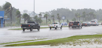 översvämmad körbana Arkivfoton