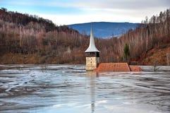 Översvämmad kyrka Arkivbilder