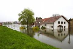 översvämmad skola Royaltyfri Bild
