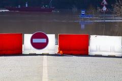 översvämmad teckentrafik Royaltyfria Bilder