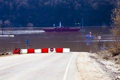 översvämmad teckentrafik Royaltyfri Fotografi