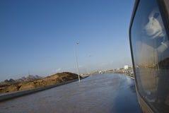 översvämmad tungt väg Fotografering för Bildbyråer